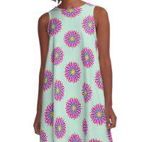 Electric Sun Pom Pom A-Line Dress