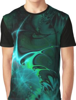 Psychedelic Waves (green) Graphic T-Shirt