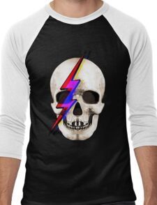Skull David Bowie Men's Baseball ¾ T-Shirt