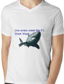 30 Rock - Shark Week Mens V-Neck T-Shirt