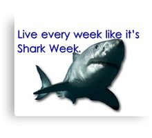 30 Rock - Shark Week Canvas Print
