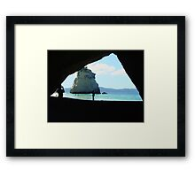Cathedral Cove, NZ Framed Print
