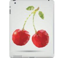 Geometric polygonal fruit, triangles, cherries iPad Case/Skin