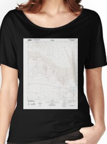 USGS TOPO Map California CA Borrego Mountain 20120518 TM geo Women's Relaxed Fit T-Shirt