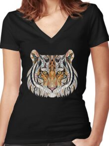 Ethnic Tiger Women's Fitted V-Neck T-Shirt