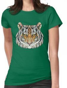 Ethnic Tiger Womens Fitted T-Shirt