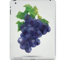 Geometric polygonal fruit, triangles, grapes iPad Case/Skin