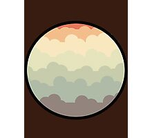 Mountain Clouds - Cartoon Photographic Print