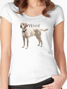 Woof - Retriever Women's Fitted Scoop T-Shirt
