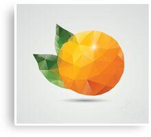 Geometric polygonal fruit, triangles, orange Canvas Print
