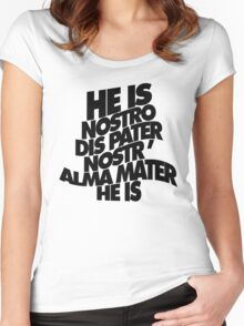 HE IS - solid black Women's Fitted Scoop T-Shirt