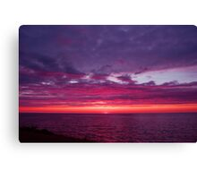 Beach in the evening Canvas Print