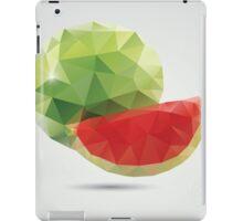 Geometric polygonal fruit, triangles, watermelon iPad Case/Skin