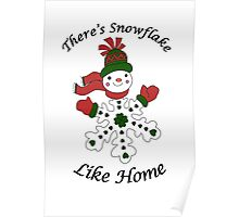 Cute Snowflake Snowman Poster