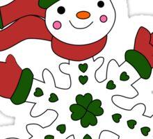 Cute Snowflake Snowman Sticker