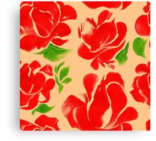 Flower acrylic pattern red Canvas Print