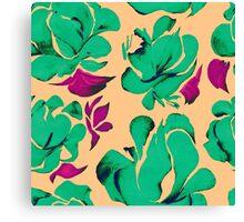 Flower acrylic pattern green Canvas Print