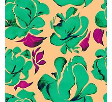 Flower acrylic pattern green Photographic Print