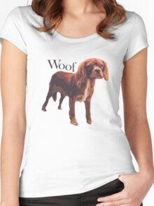 Woof - Spaniel Women's Fitted Scoop T-Shirt