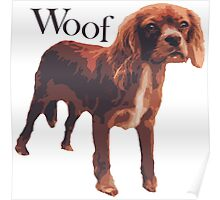 Woof - Spaniel Poster