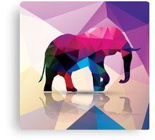 Geometric polygonal elephant, pattern design Canvas Print