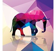 Geometric polygonal elephant, pattern design Photographic Print