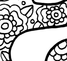 zentangle e: black/white Sticker