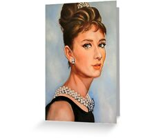 portrait of Audrey Hepburn Greeting Card