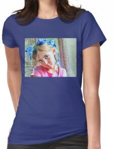 """A Floral Crown-""""Love"""" Greeting Card and More! Womens Fitted T-Shirt"""