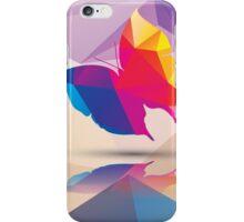 Geometric polygonal butterfly, pattern design iPhone Case/Skin