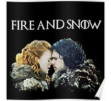 Fire and Snow  Poster