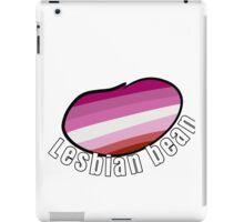 """""""LESBIAN BEAN"""" lgbt+ pride beans! iPad Case/Skin"""