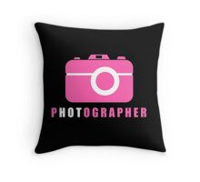 I Put the Hot in Photographer Throw Pillow