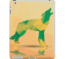 Geometric polygonal wolf, pattern design iPad Case/Skin