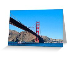 Golden Gate from Boat Greeting Card