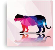 Geometric polygonal leopard, pattern design Canvas Print