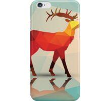 Geometric polygonal deer, pattern design iPhone Case/Skin