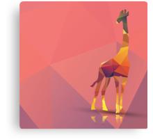 Geometric polygonal giraffe, pattern design Canvas Print