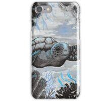 blue turtle  iPhone Case/Skin