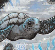 blue turtle  Sticker