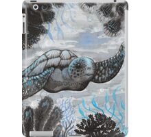blue turtle  iPad Case/Skin