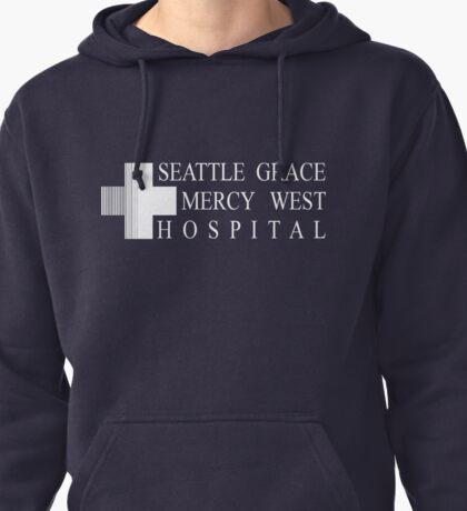 Seattle Grace Mercy West Hospital Logo - White Pullover Hoodie