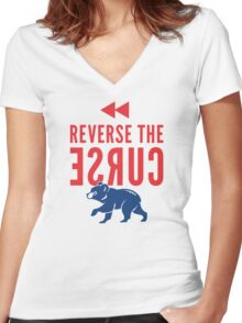 Reverse the Curse Women's Fitted V-Neck T-Shirt