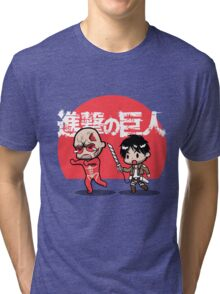 Attack on Somebody Your Own Size! Tri-blend T-Shirt