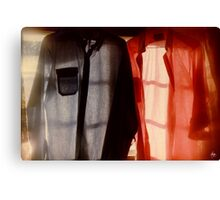 Two Shirts in a Window, Study Number 1 Canvas Print