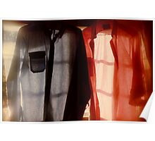 Two Shirts in a Window, Study Number 1 Poster