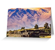 Sacred Valley Ruins Greeting Card