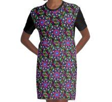 Indian Dream Pattern Graphic T-Shirt Dress