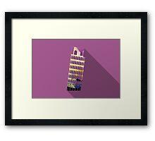 World landmark, Leaning Tower of Pisa, Italy Framed Print