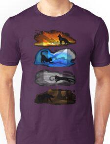 Warrior Cats: Four Elements, Four Clans Unisex T-Shirt